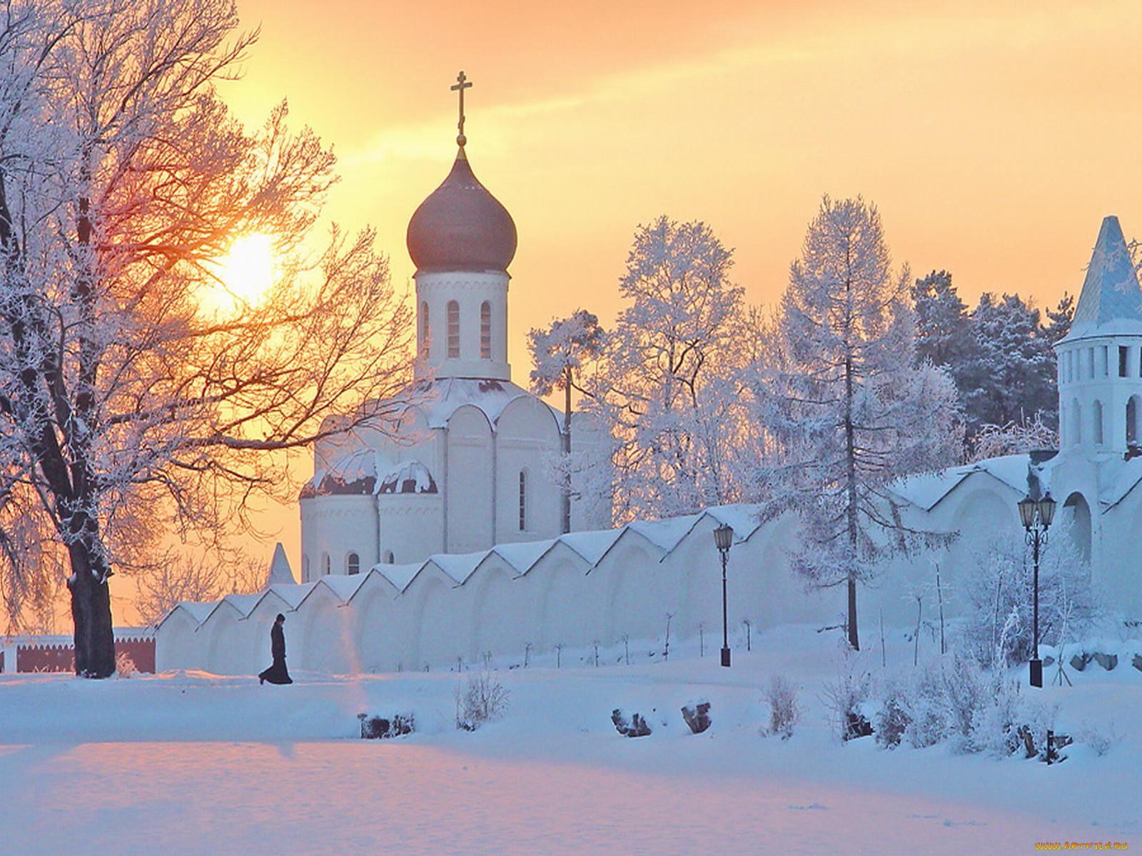фото зимних храмов