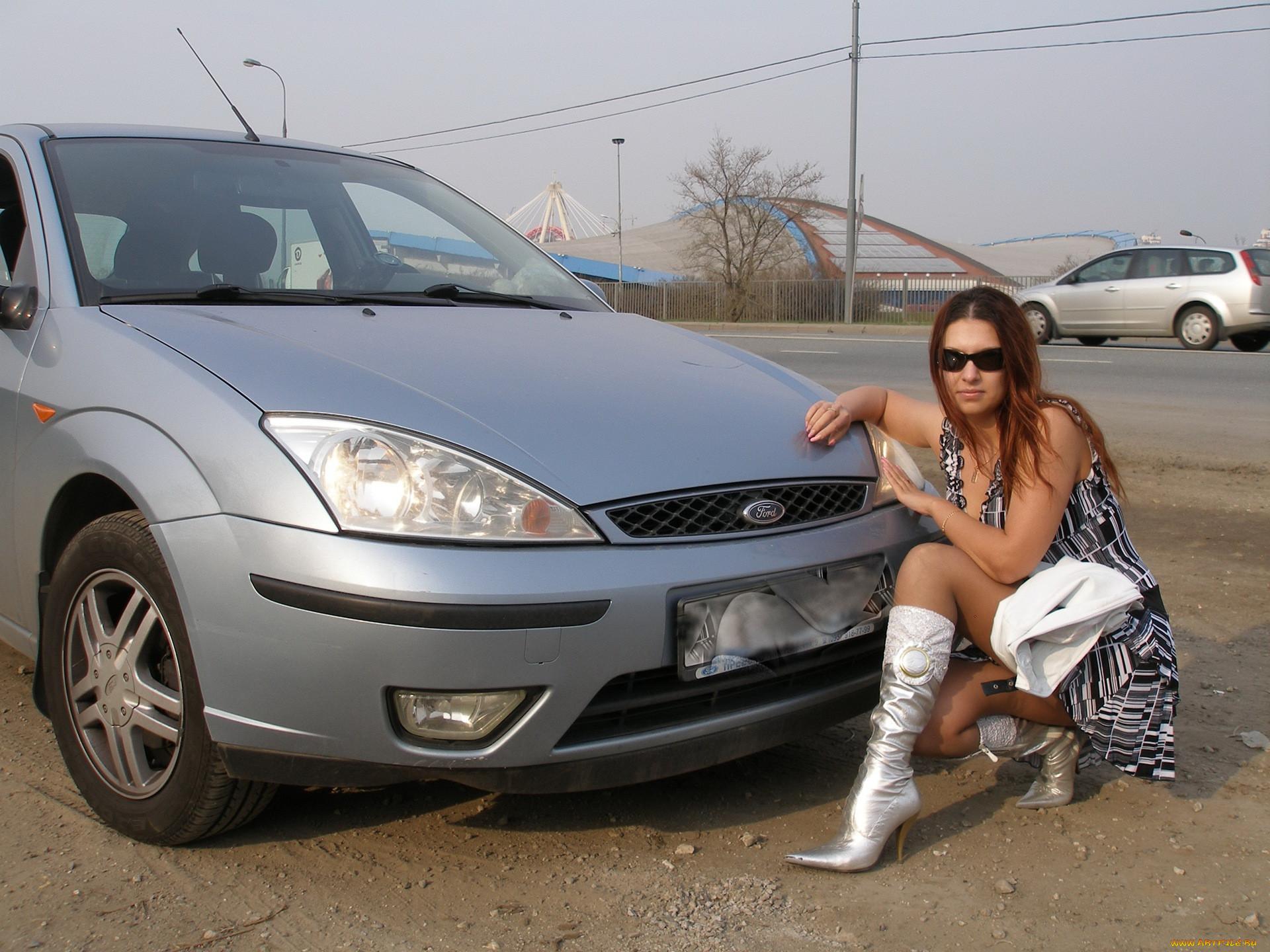 Русские женщины в машине 6 фотография
