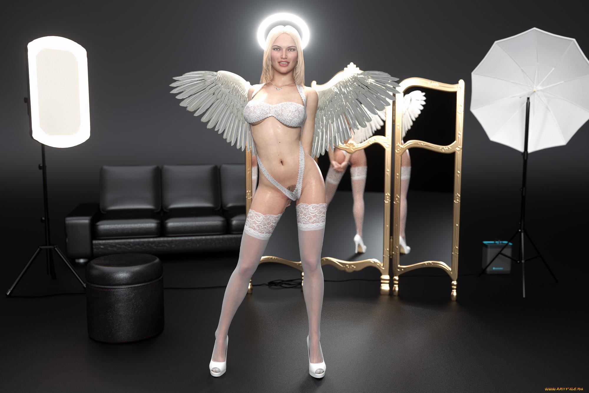3 Д Модели Ангелы 18 Тен Эротика