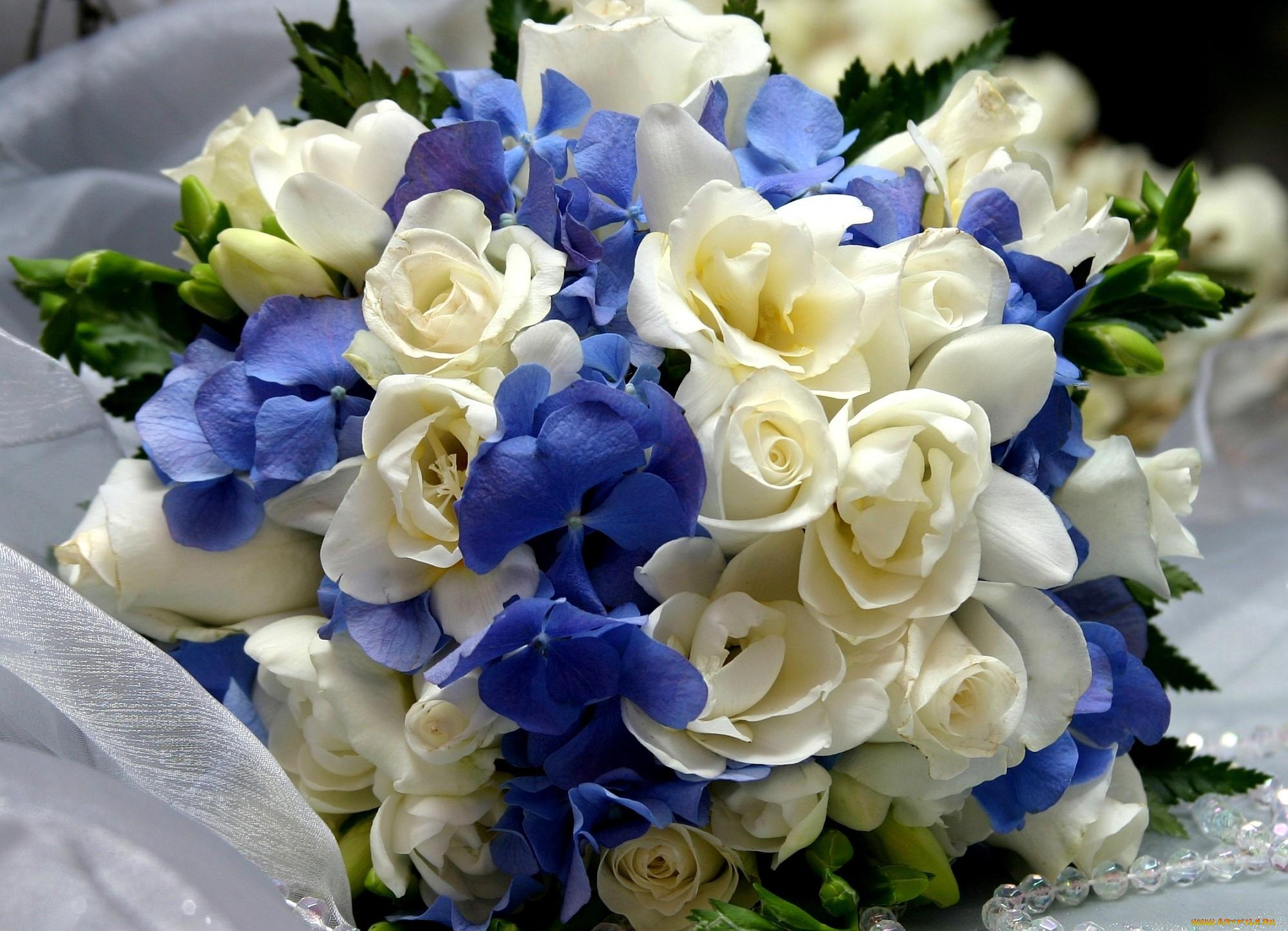 Обои Цветы Букеты, композиции, обои для рабочего стола, фотографии цветы, букеты, композиции, гортензия, розы, фрезия Обои для р