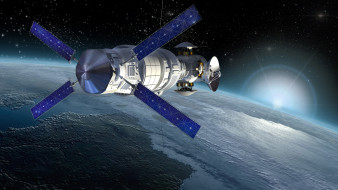 обои для рабочего стола 6000x3375 космос, арт, коммуникационное, орбитальная, станция, атмосфера, земля, космическая, исследования, боке, красотища, поля, звездного, бесконечность, вселенная, оборудование, солнечные батареи