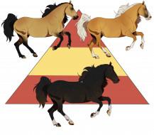 фон, лошади