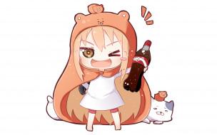 автор,  wataru kuri, аниме, unknown,  другое, кока-кола, девочка, wataru, kuri, арт