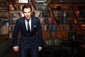 Benedict Cumberbatch обои для рабочего стола 3000x2000 benedict cumberbatch, мужчины, книги, кабинет