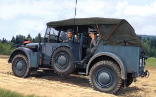 рисованное, армия, фон, автомобиль
