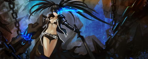 аниме, black rock shooter, black, rock, shooter, kuroi, mato, hanshu
