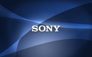 бренды, sony, фон, логотип