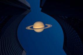 сатурн, небо, фон