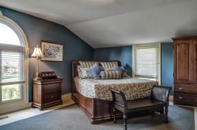 интерьер, спальня, комната, мебель