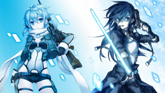 аниме, sword art online, gun, gale, online, kirigaya, kazuto, sao, shinon