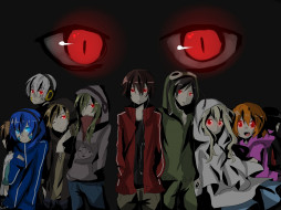аниме, kagerou project, глаза