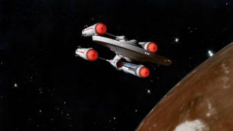 обои для рабочего стола 4096x2304 космос, арт, космический, корабль, полет, вселенная, планета
