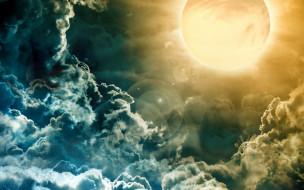 облака, солнце