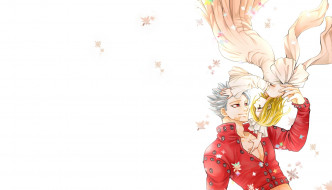 аниме, nanatsu no taizai, романтика, элейн, любовь, бан