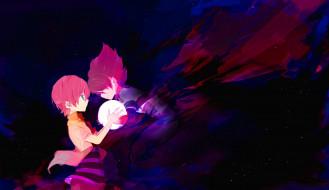 обои для рабочего стола 2500x1446 аниме, inazuma eleven, арт, umehara, inazuma, eleven, одиннадцать, молний, небо, звезды, мальчики