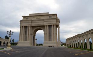 города, гянджа , азербайджан, heydar, aliyev, park, ganja