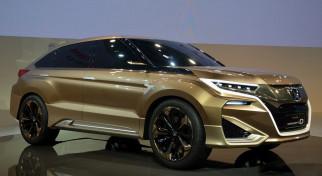 Honda Concept D crossover обои для рабочего стола 2339x1280 honda concept d crossover, автомобили, выставки и уличные фото, crossover, concept, d, honda, автосалон, выставка, бежевый