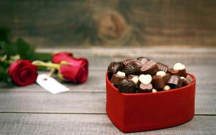 еда, конфеты,  шоколад,  сладости, розы, ассорти