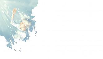 обои для рабочего стола 1920x1099 аниме, unknown,  другое, арт, re, парень, вода, пузыри
