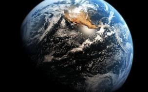обои для рабочего стола 1920x1200 космос, земля, планета, облака, океаны, америка, континент