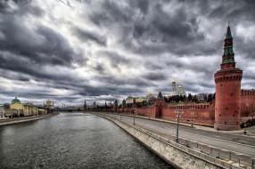 moscow,  kremlin, города, москва , россия, набережная, река