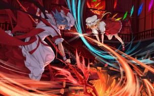 обои для рабочего стола 1920x1200 аниме, touhou, flandre, scarlet, asu, tora, remilia