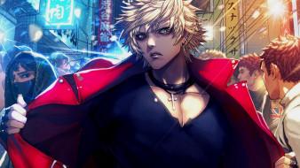 аниме, furyou michi ~gang road~, парень, блондин