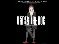 аниме, under the dog, капюшон, девушка, under, the, dog