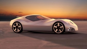toyota concept, автомобили, 3д, металлик, concept, toyota, car, закат