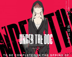 аниме, under the dog, девушка, under, the, dog, взгляд, капюшон