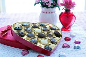 еда, конфеты,  шоколад,  сладости, ассорти