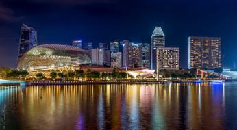 singapore, города, сингапур , сингапур, ночь