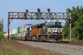 обои для рабочего стола 2048x1365 техника, поезда, состав, рельсы, локомотив