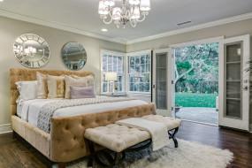 интерьер, спальня, кровать, подушки