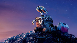 звезды, небо, робот, мечта, свалка, мусор, гора