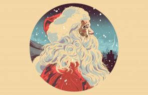 Новый Год, Рождество, шапка, New Year, борода, Дед Мороз
