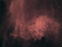 туманность, IC 405, пламенеющей звезды, космос