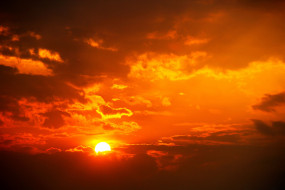 обои для рабочего стола 3000x2000 природа, восходы, закаты, sun, солнце, закат, облака, небо, свет