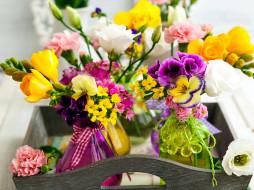 обои для рабочего стола 2560x1920 цветы, разные вместе, гвоздика, герань, фрезия