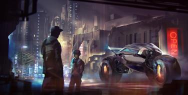 средство, транспортное, будущее, люди, улица, мир, иной