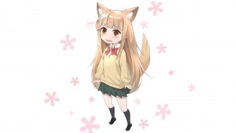 tanaka-kun wa itsumo kedaruge, аниме, фон, взгляд, девушка