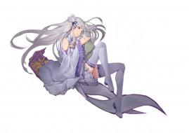 обои для рабочего стола 3508x2480 аниме, re,  zero kara hajimeru isekai seikatsu, кот, девушка