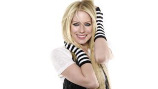 улыбка, блондинка, Аврил Лавинь, певица, перчатки