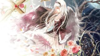 rozen maiden, аниме, фон, взгляд, девушка