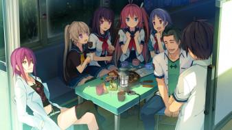 аниме, aokana, персонажи