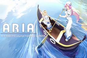 аниме, aria, фон, взгляд, девушка