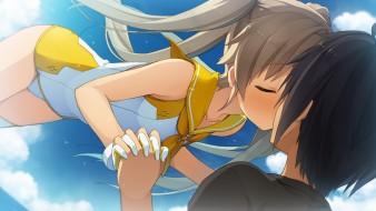 аниме, aokana, фон, взгляд, девушка