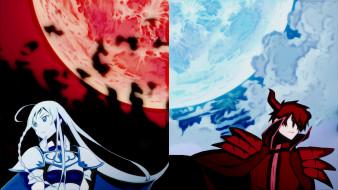 аниме, hataraku maou-sama, луна