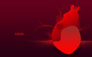праздничные, день святого валентина,  сердечки,  любовь, сердце, фон