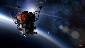 обои для рабочего стола 1948x1100 космос, космические корабли,  космические станции, пилотируемый, аполлон-9, apollo-9, космический, корабль
